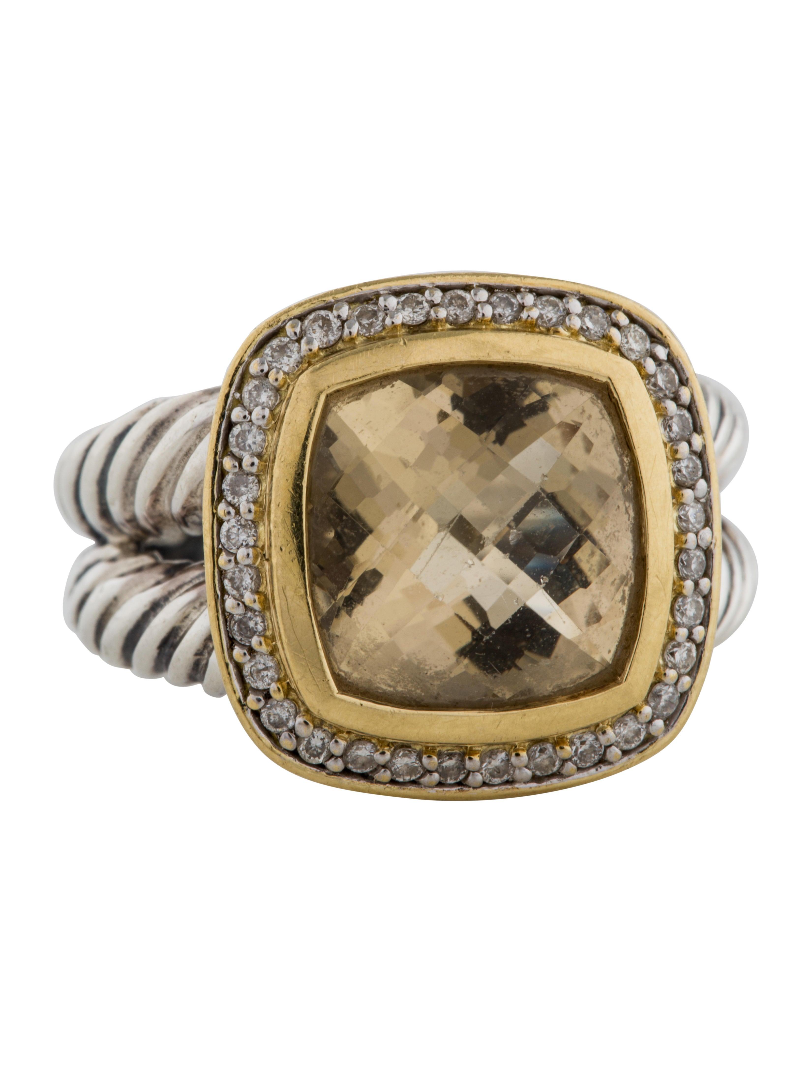 David yurman citrine diamond albion ring rings for David yurman inspired jewelry rings