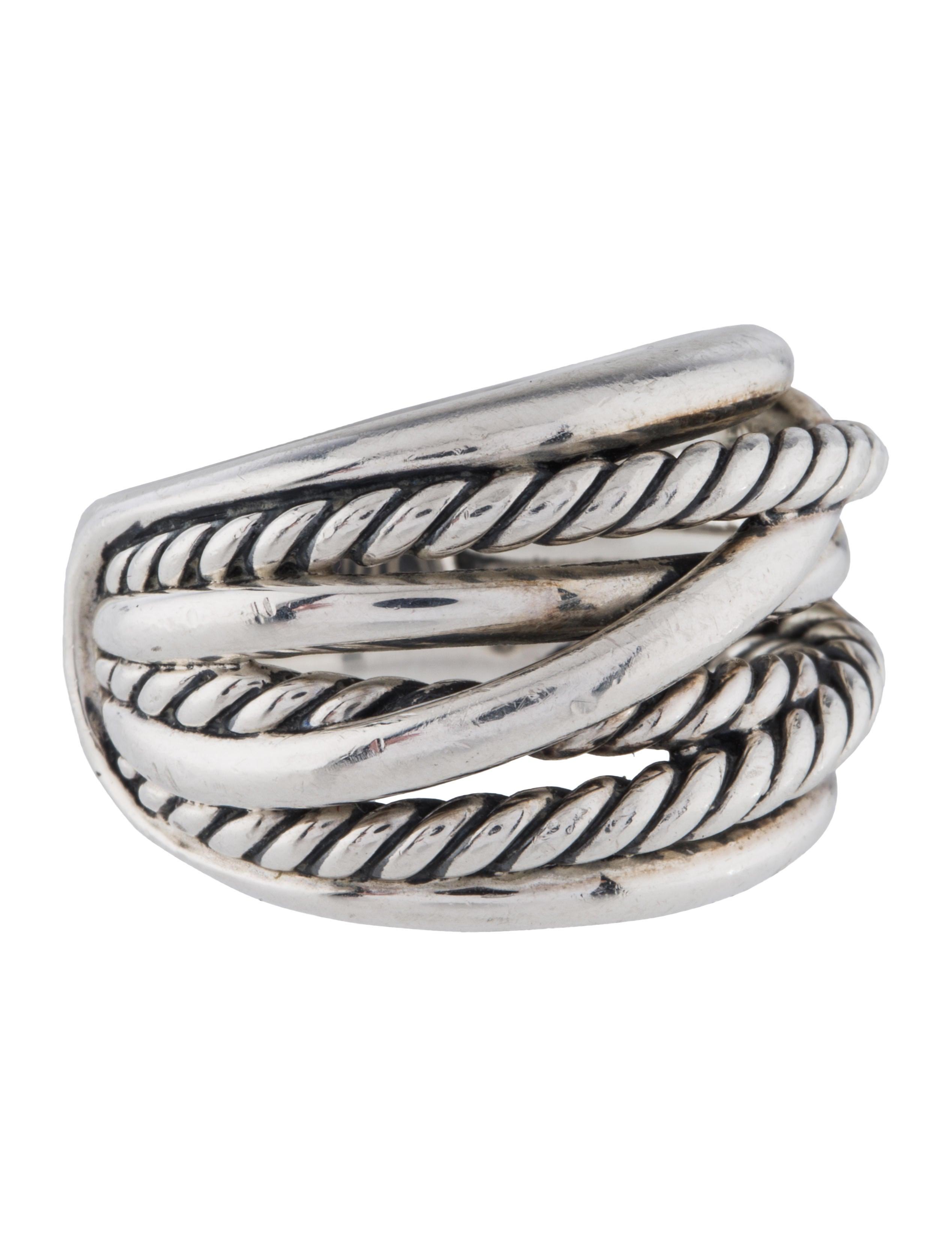 David yurman crossover wide ring rings dvy44828 the for David yurman inspired jewelry rings