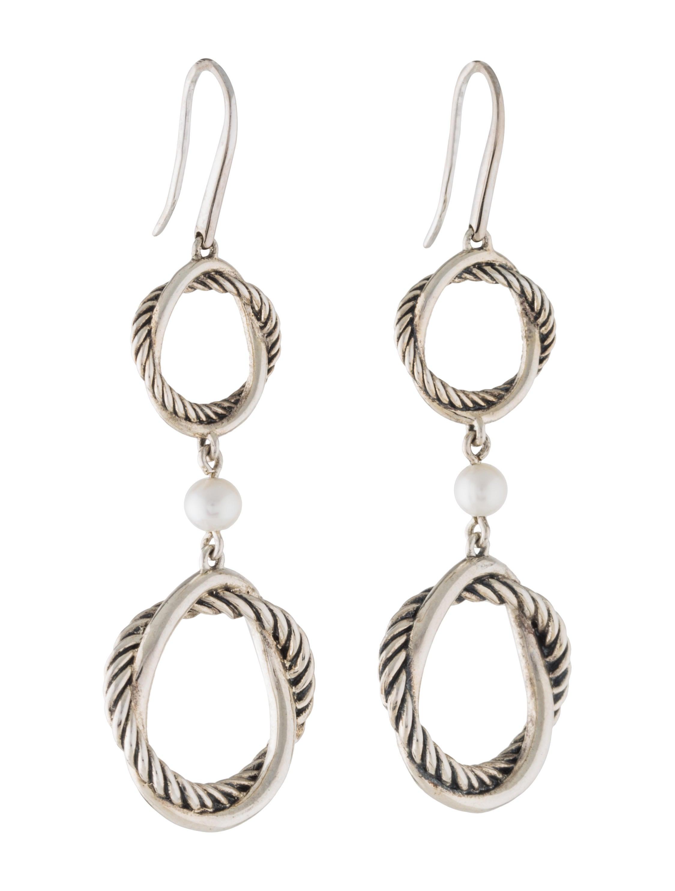 David Yurman Infinity Pearl Drop Earrings Earrings