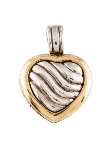 David Yurman Two-Tone Cable Heart Locket None