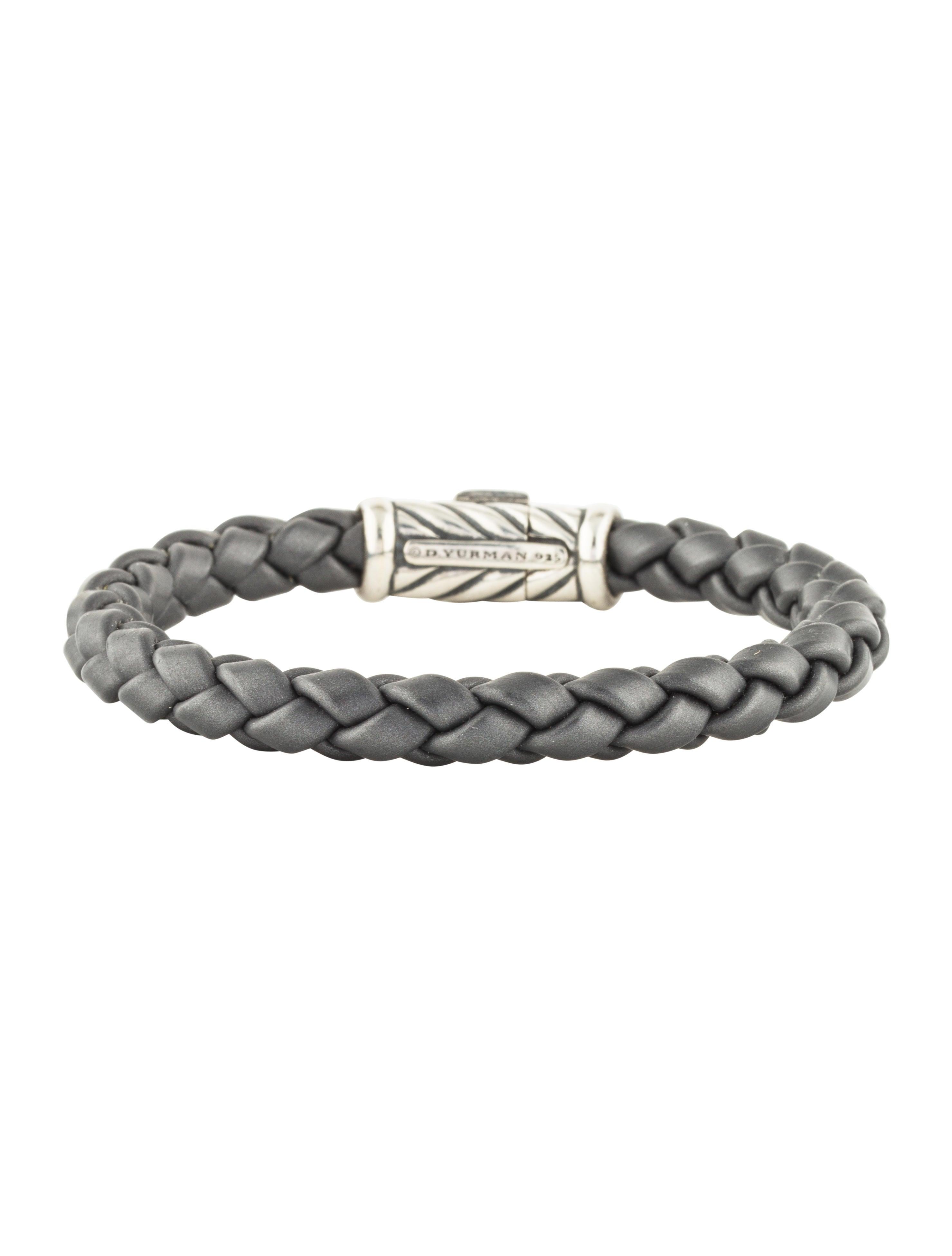 39aedbe42cab0 David Yurman Chevron Rubber Weave Bangle - Bracelets - DVY46209 ...