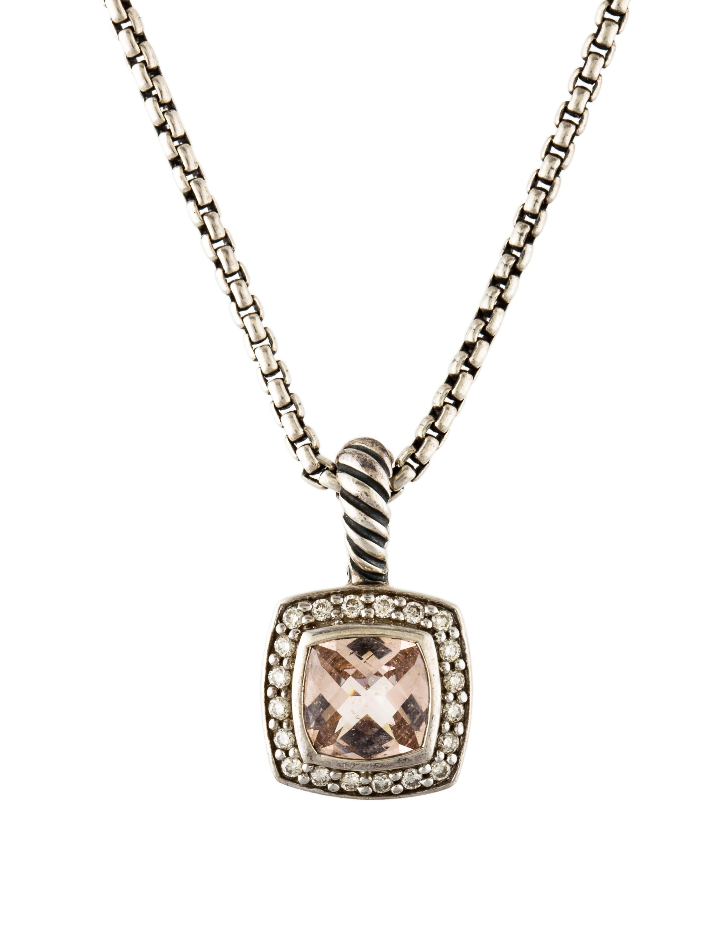 necklace necklaces rose sterling pendant gemstone pid diamond pendants silver morganite and