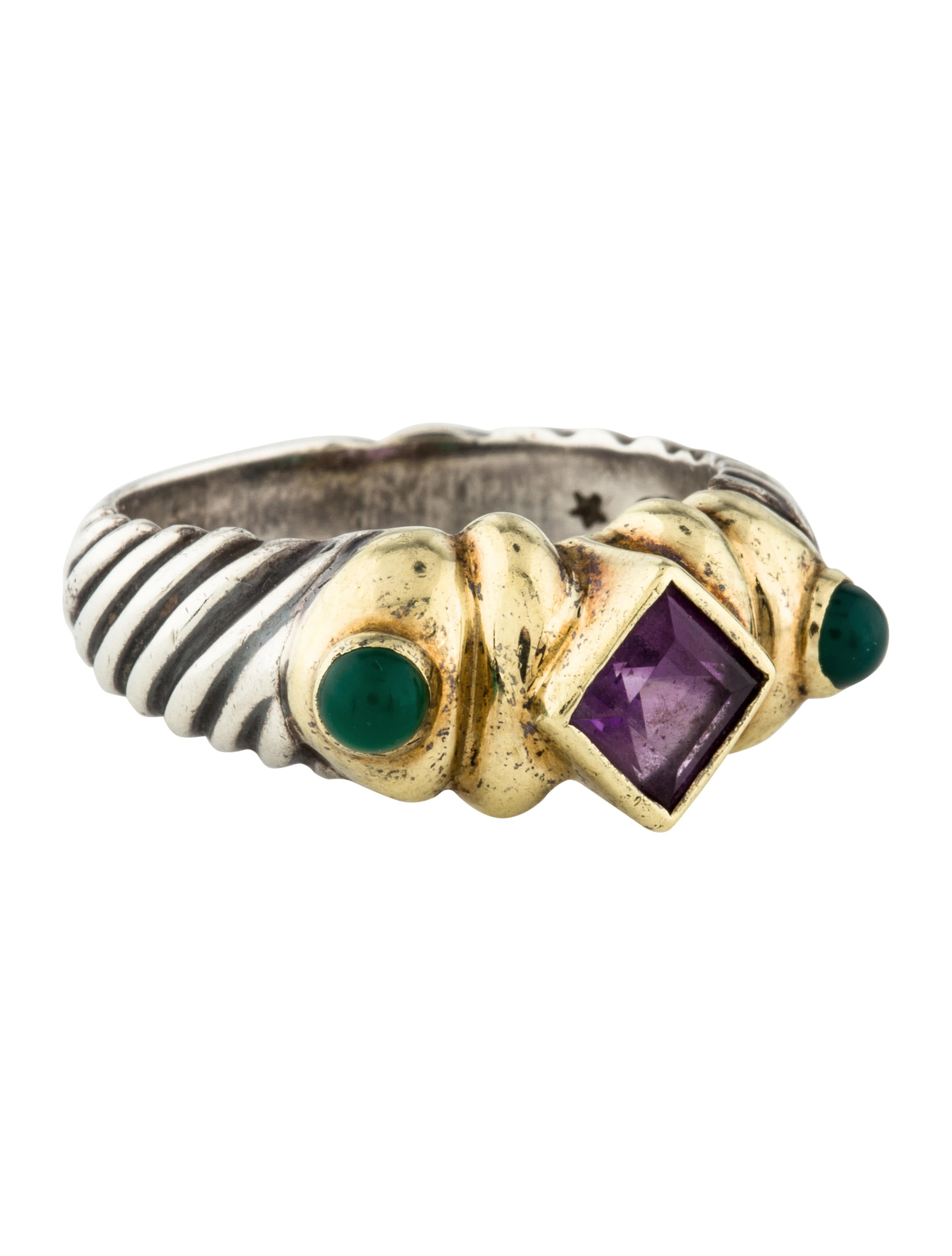 david emerald ring expand amethyst full item solid yurman size to renaissance click