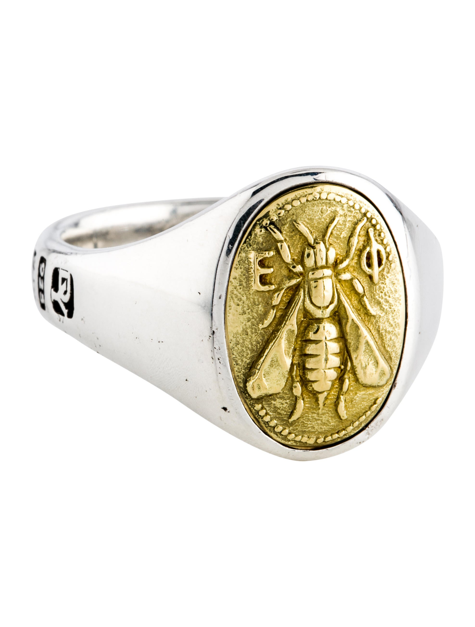 b50fb3d4c David Yurman Two-Tone Petrvs Bee Signet Ring - Rings - DVY47694 ...