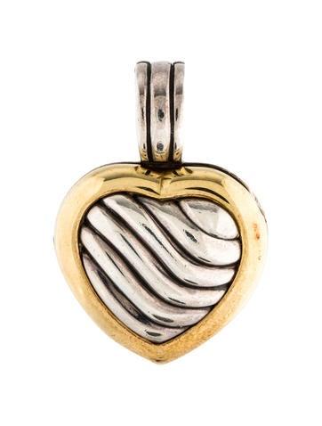 David Yurman Sculpted Cable Heart Locket None