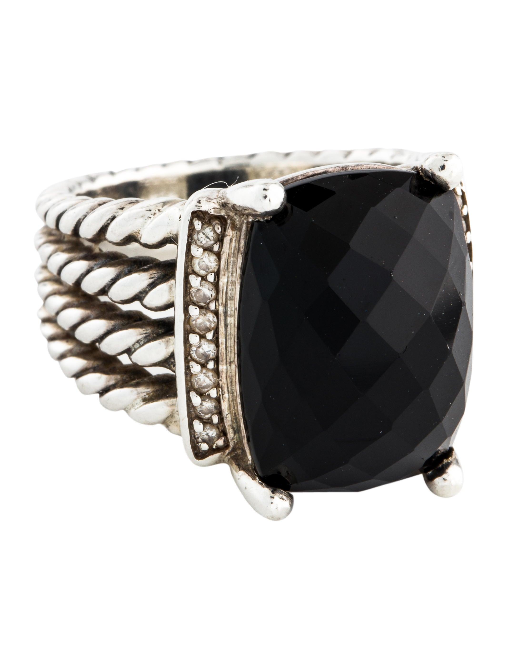 cc384dc7314a7 David Yurman Onyx   Diamond Wheaton Ring - Rings - DVY48860