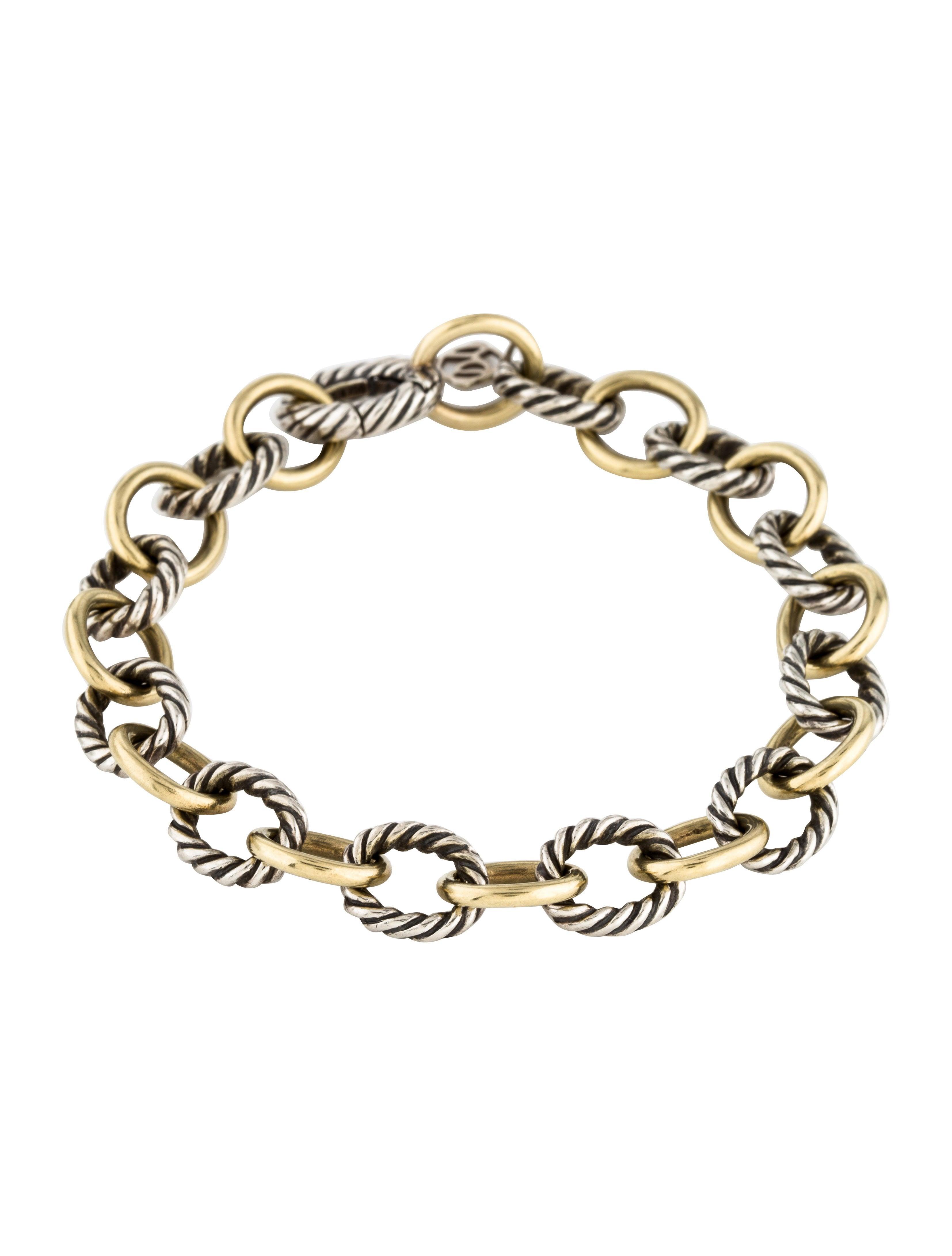 Two Tone Oval Link Bracelet