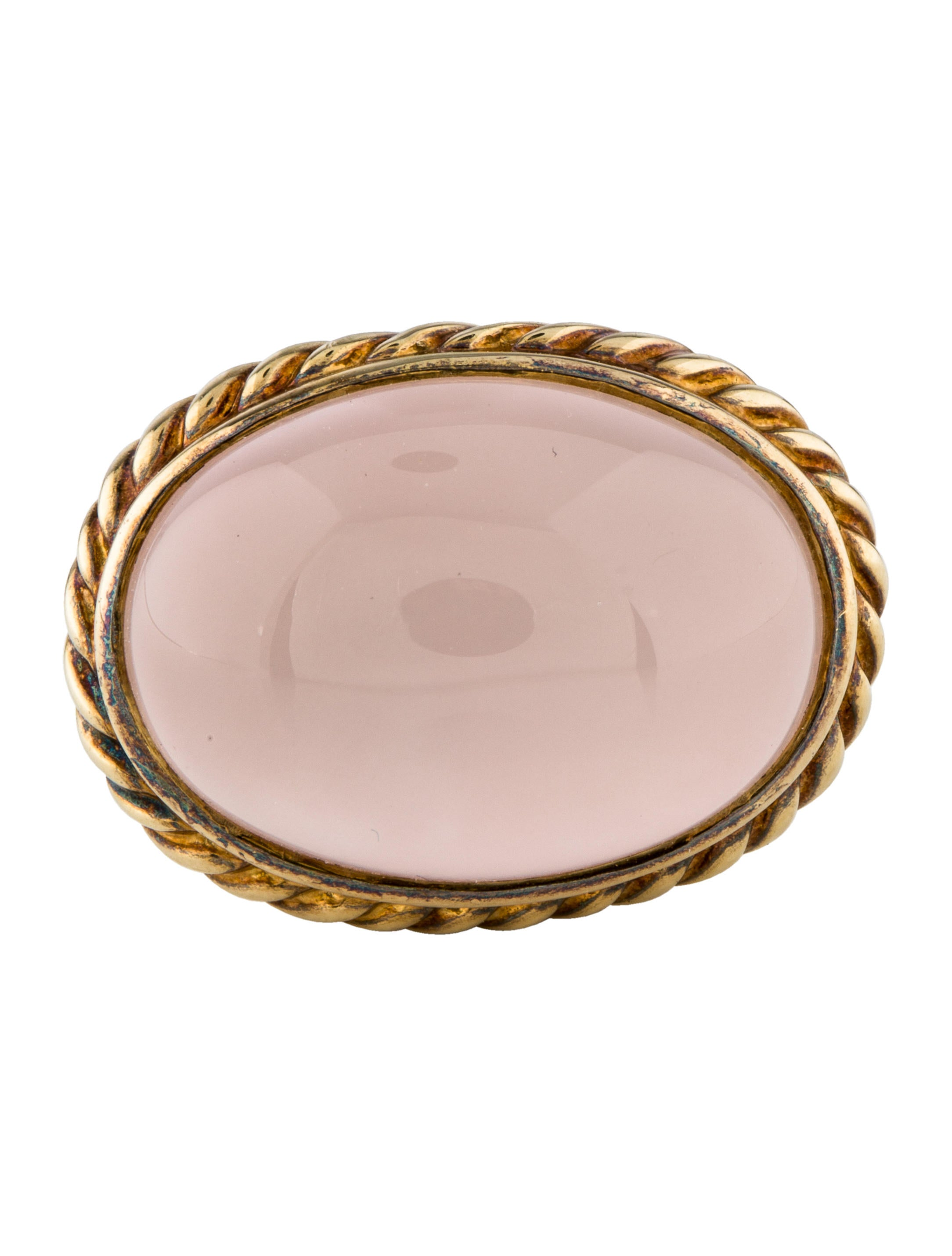 David Yurman Two-Tone Rose Quartz Ring - Rings - DVY50129 | The RealReal