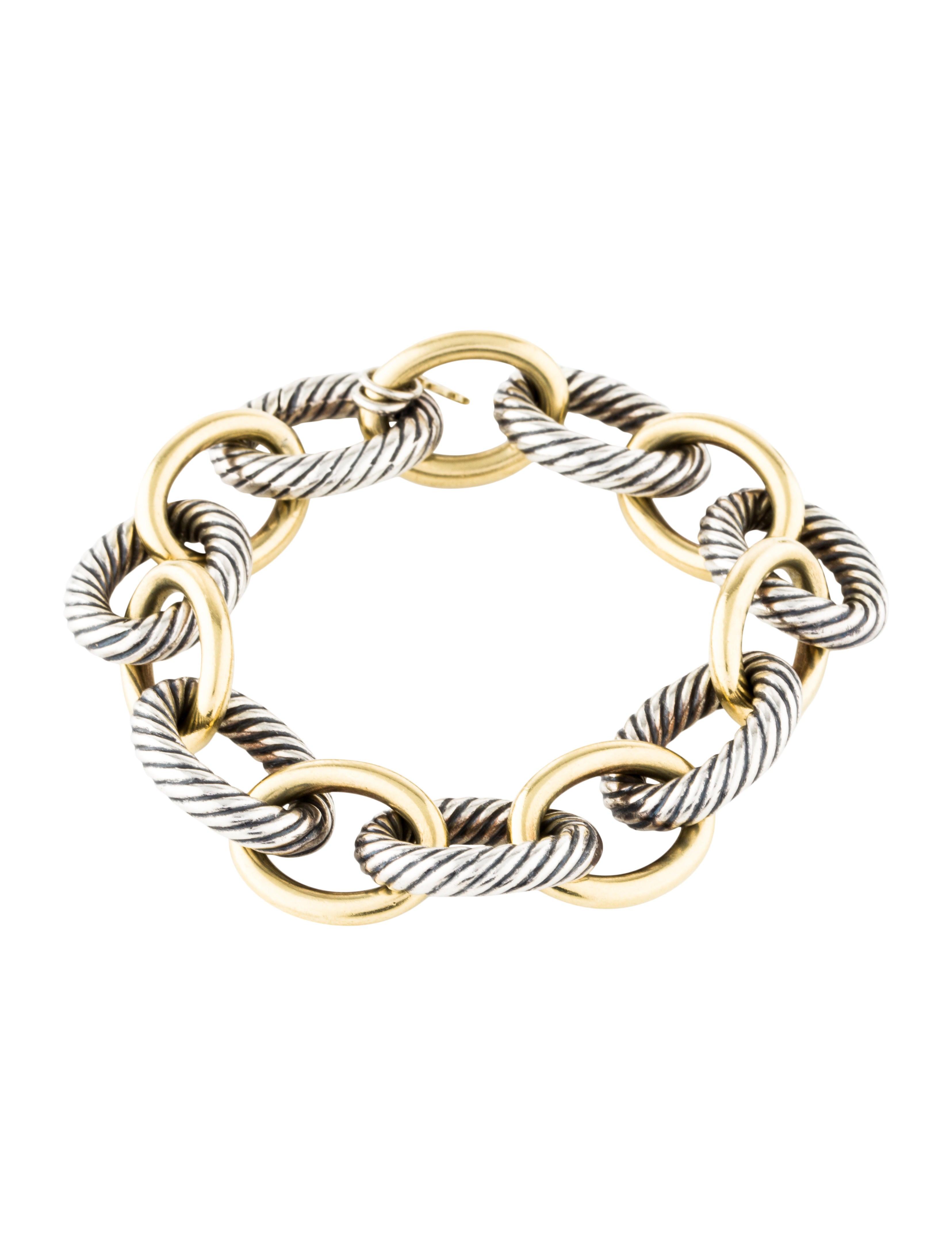 be170e0f211b3 Two-Tone Extra Large Oval Link Bracelet