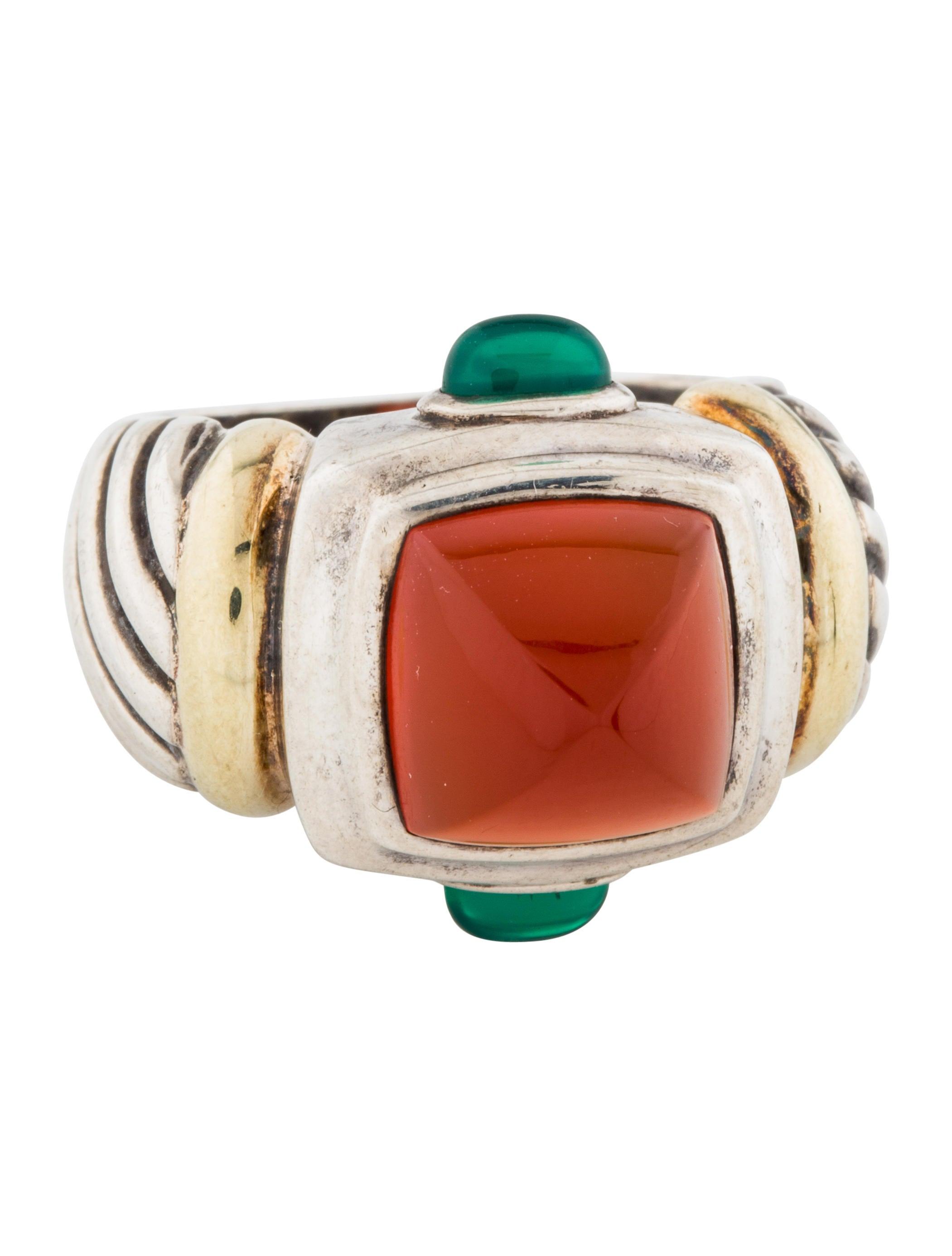 David Yurman Renaissance Carnelian Ring - Rings -           DVY56949 | The RealReal