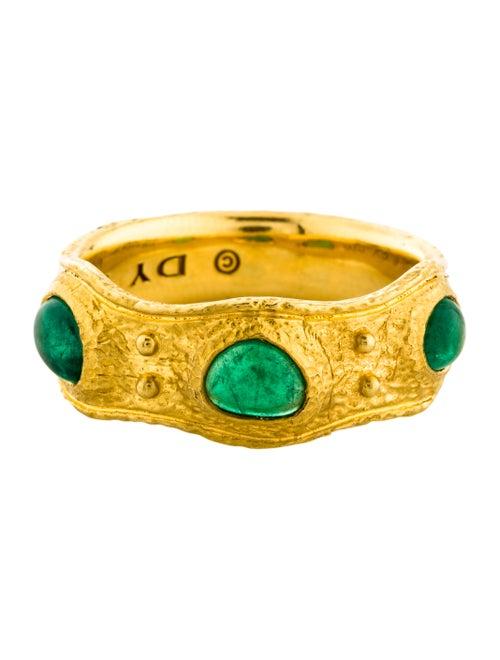 3614dbfa34bdb8 David Yurman 22K Shipwreck Emerald Band - Rings - DVY62335 | The ...