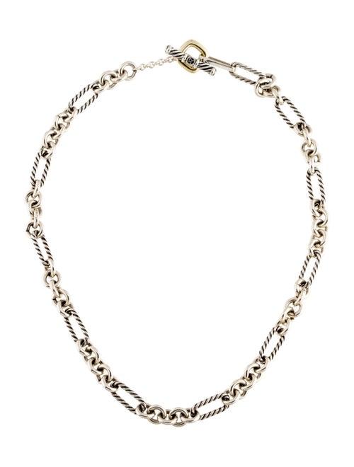 David Yurman Figaro Link Chain Necklace silver
