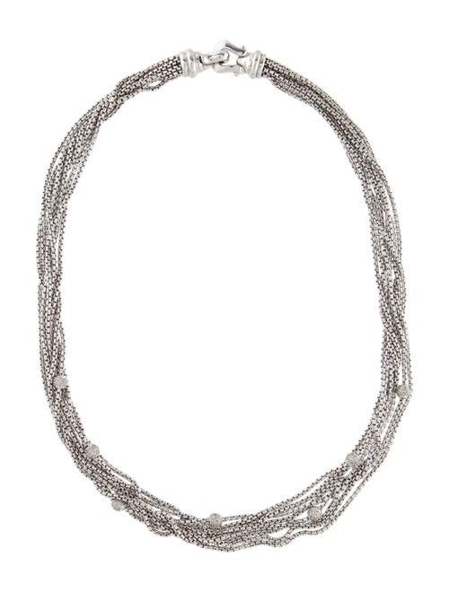 David Yurman Diamond Multi-Chain Necklace silver