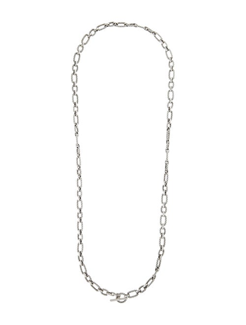 David Yurman Cushion Link Chain Necklace silver