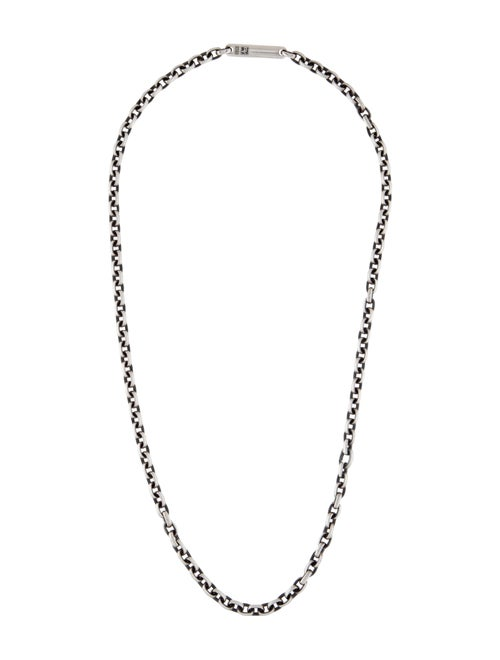 David Yurman Chain-Link Necklace silver