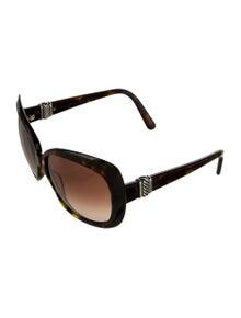 David Yurman Square Sterling Silver-Accented Sunglasses
