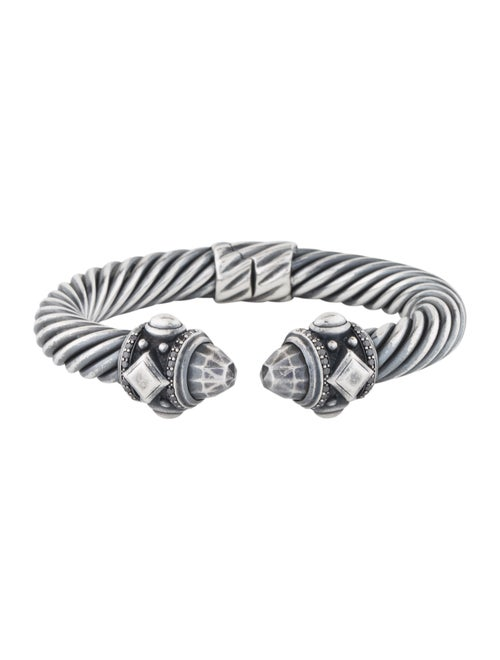 David Yurman Diamond Renaissance Cuff Bracelet Sil
