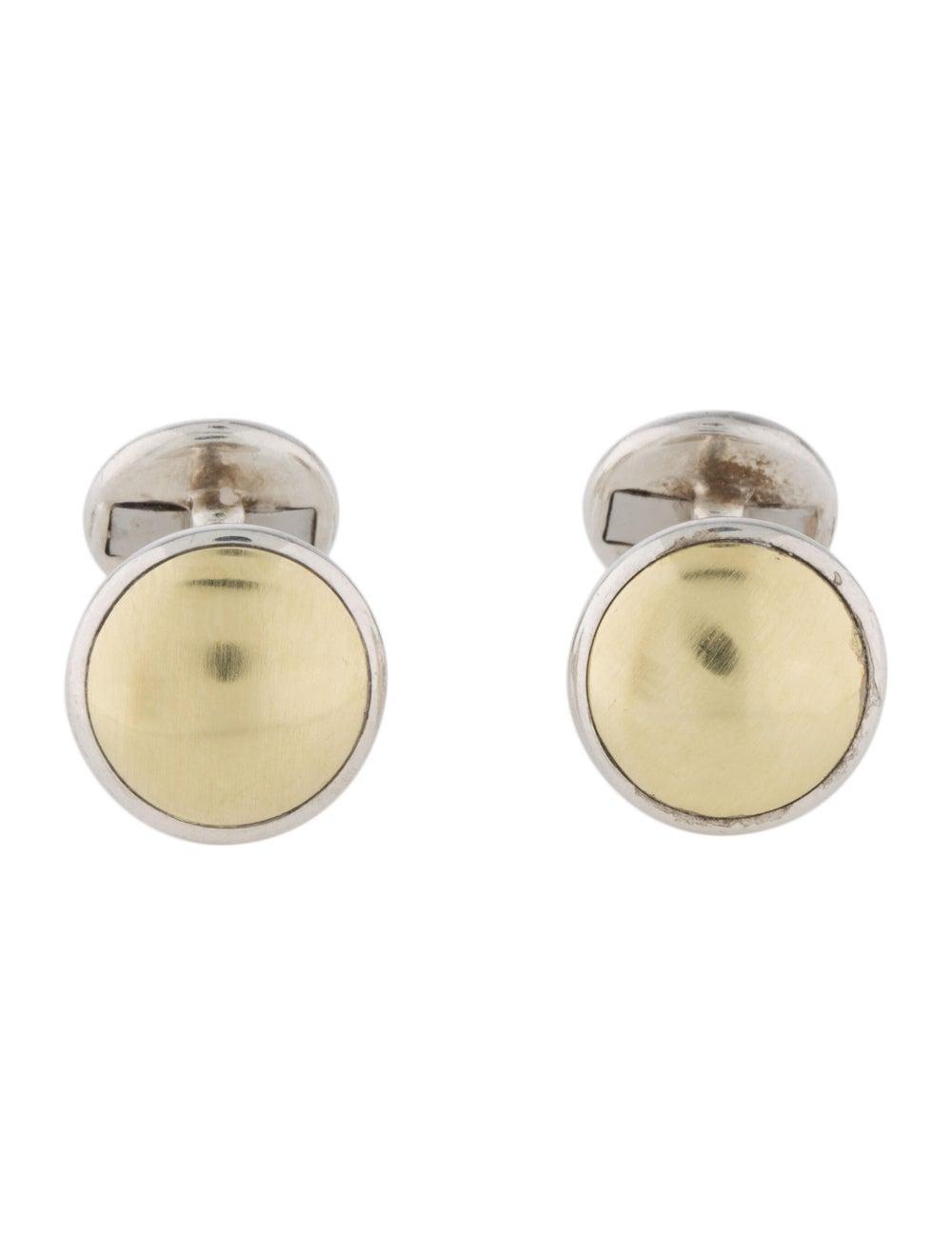 David Yurman Two-Tone Dome Cufflinks Silver - image 2