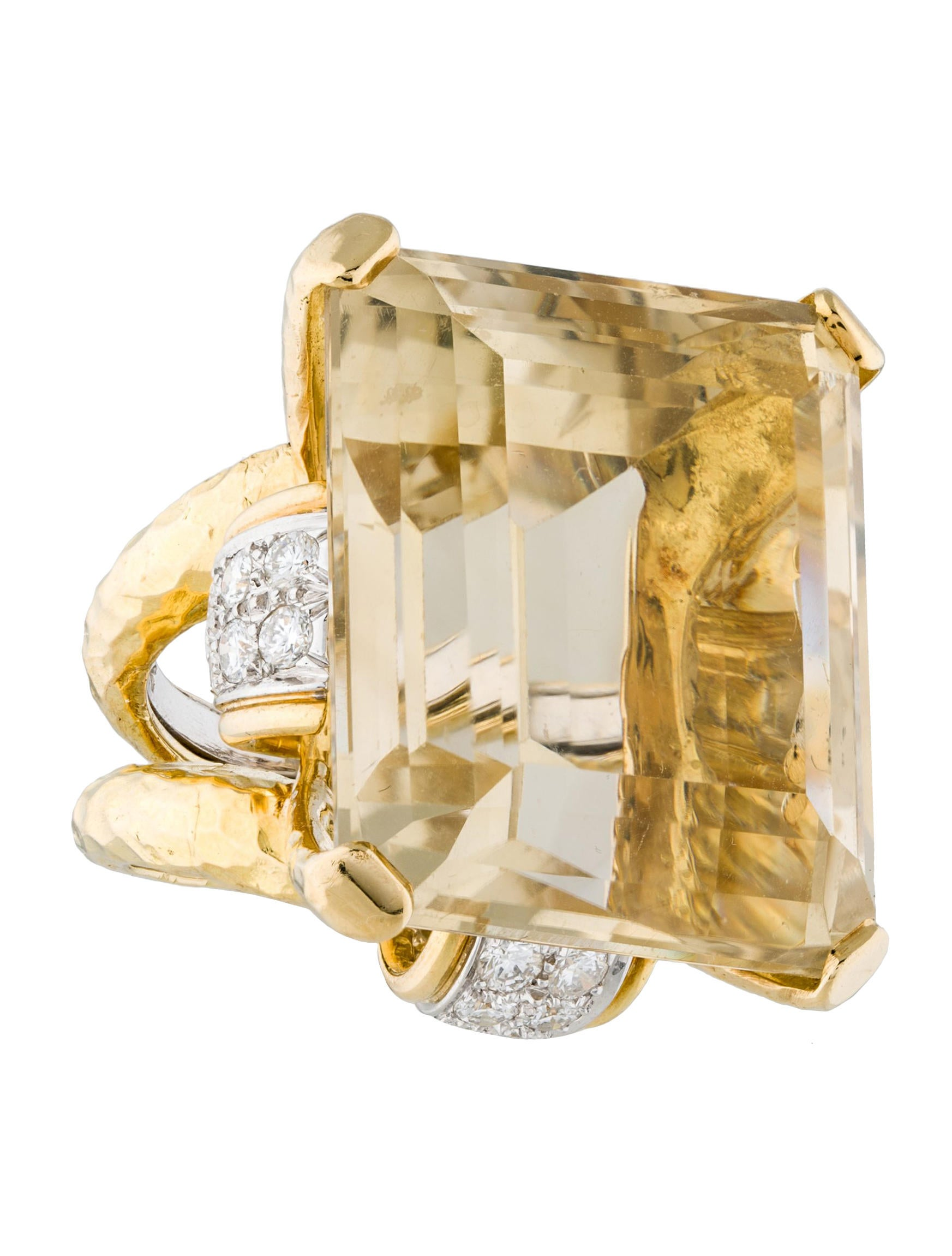 david webb citrine and diamond cocktail ring rings