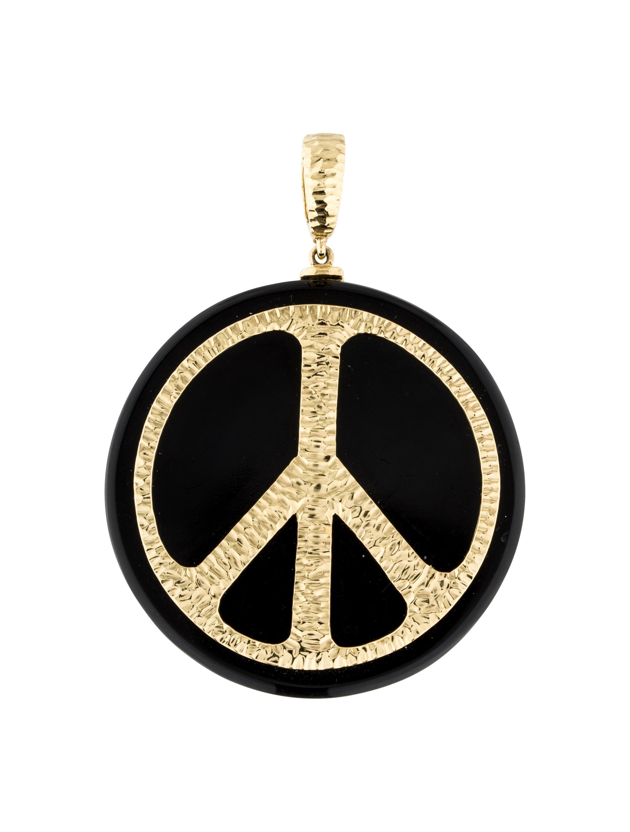 David webb 18k onyx peace sign pendant necklaces dwb20080 the 18k onyx peace sign pendant buycottarizona Gallery