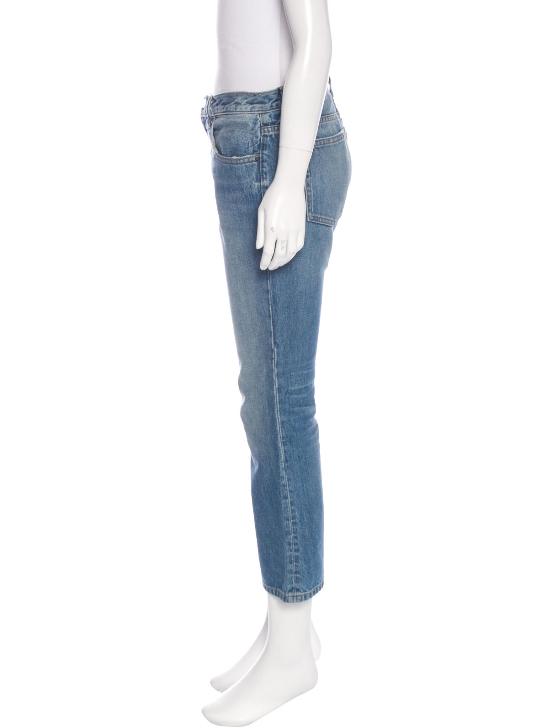 denim x alexander wang mid rise cropped flare jeans clothing dwlxa20075 the realreal. Black Bedroom Furniture Sets. Home Design Ideas