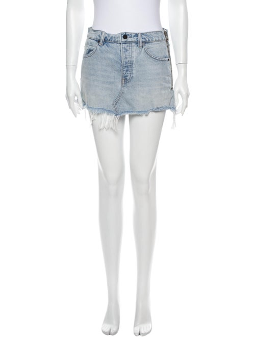 Denim x Alexander Wang Distressed Accents Mini Ski