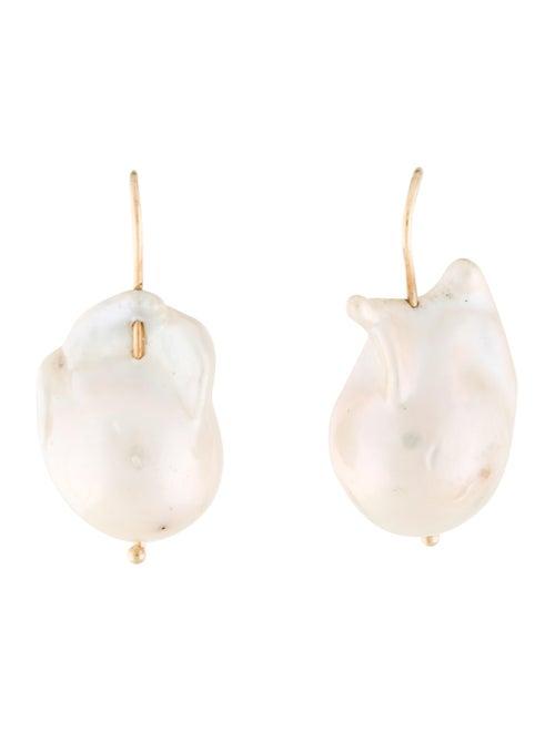 Earrings 14K Cultured Baroque Pearl Drop Earrings