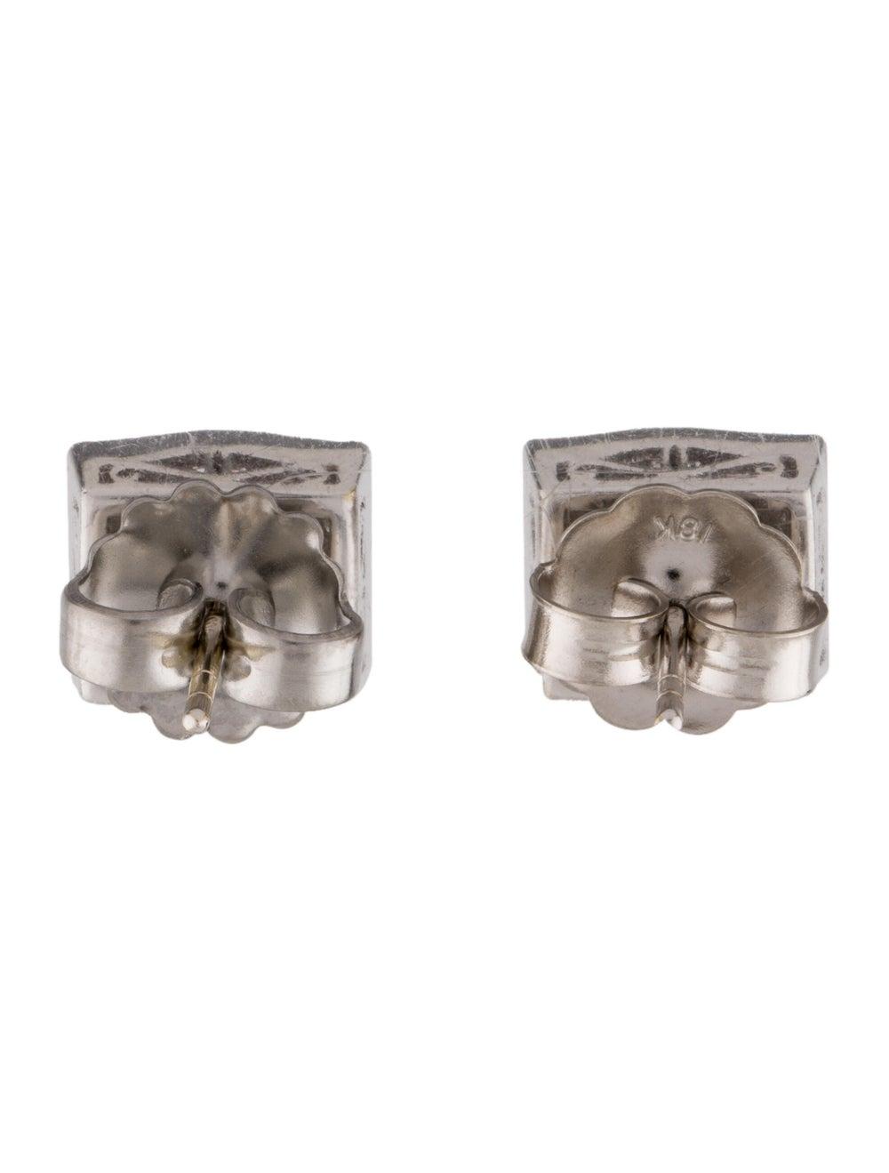 Earrings 18K Diamond Stud Earrings White - image 4