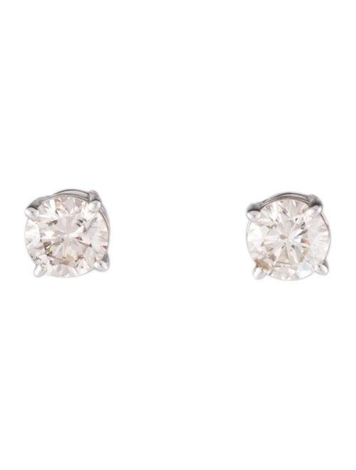 14K Diamond Stud Earrings White - image 1