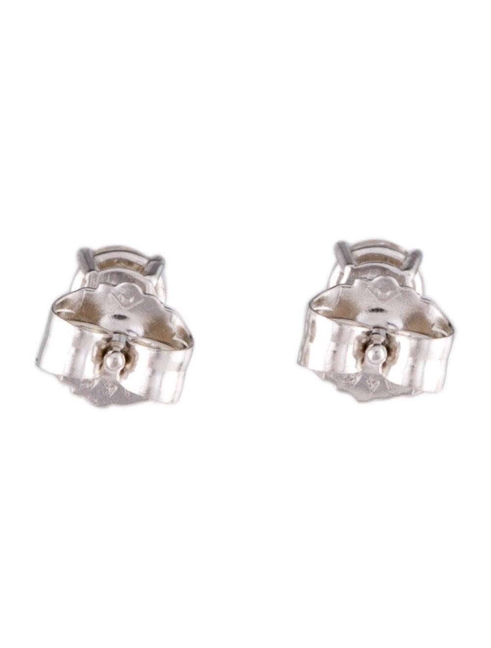 14K Diamond Stud Earrings White - image 3