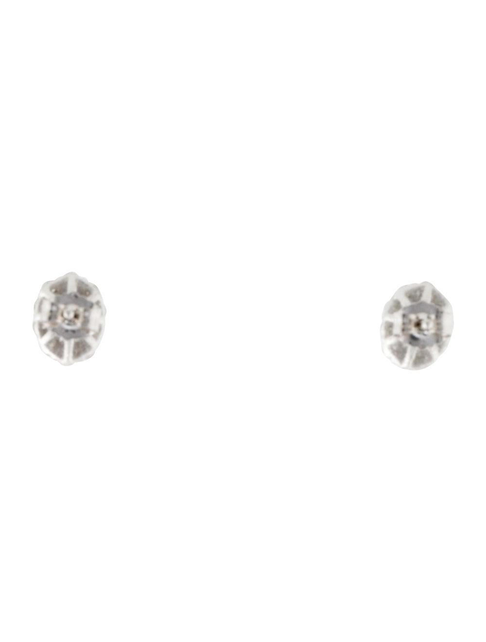 Earrings 14K Diamond Halo Stud Earrings White - image 4