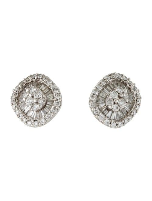 Diamond Stud Earrings White - image 1