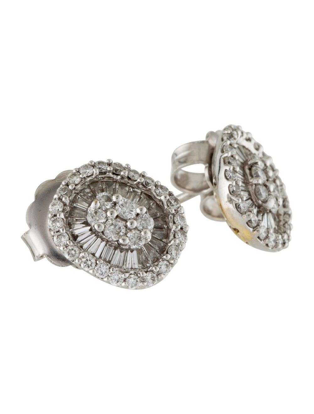 Diamond Stud Earrings White - image 3