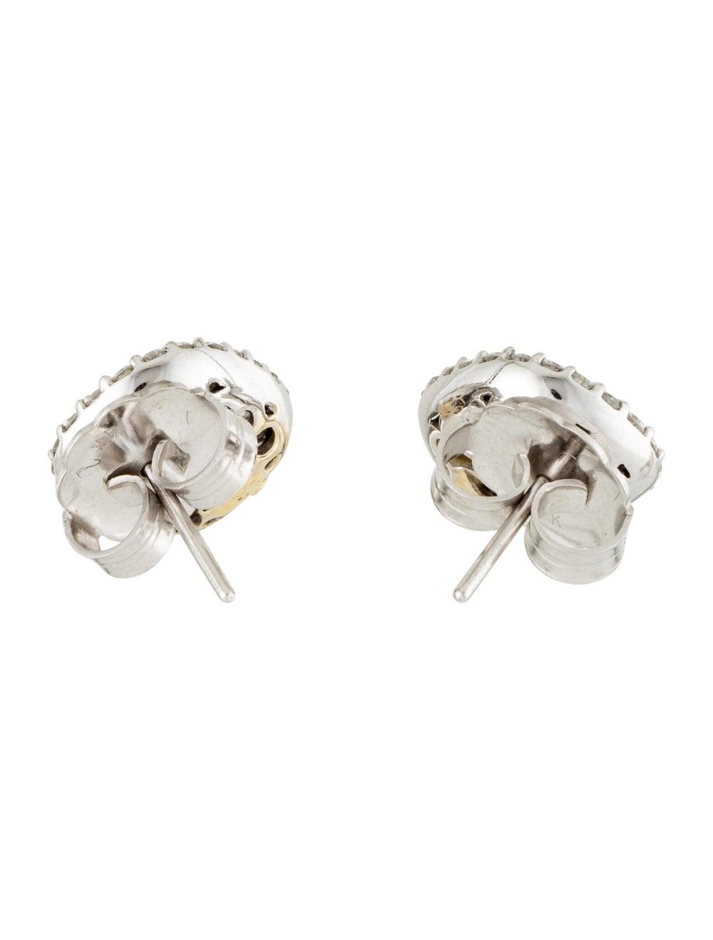Diamond Stud Earrings White - image 4