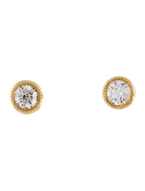 Earrings 18K Diamond Stud Earrings Yellow