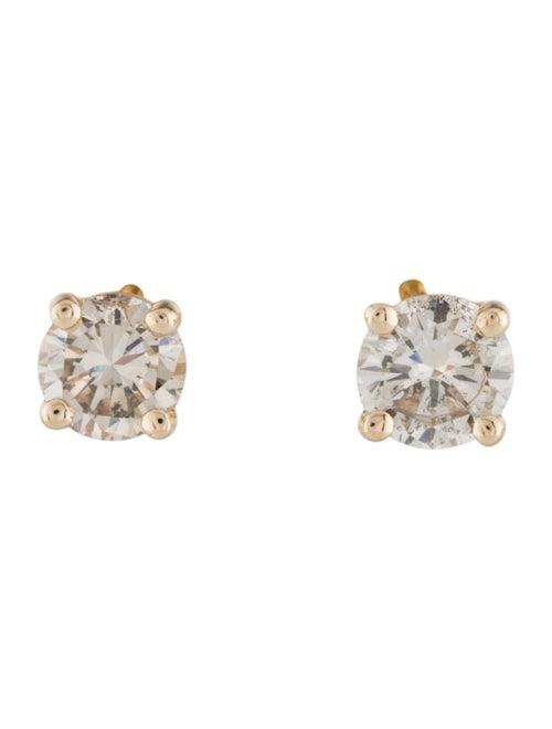 Earrings 14K Diamond Stud Earrings Yellow