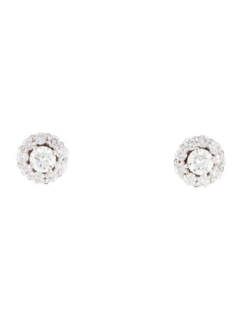 Earrings 14K 1.04ctw Diamond Halo Stud Earrings Wh