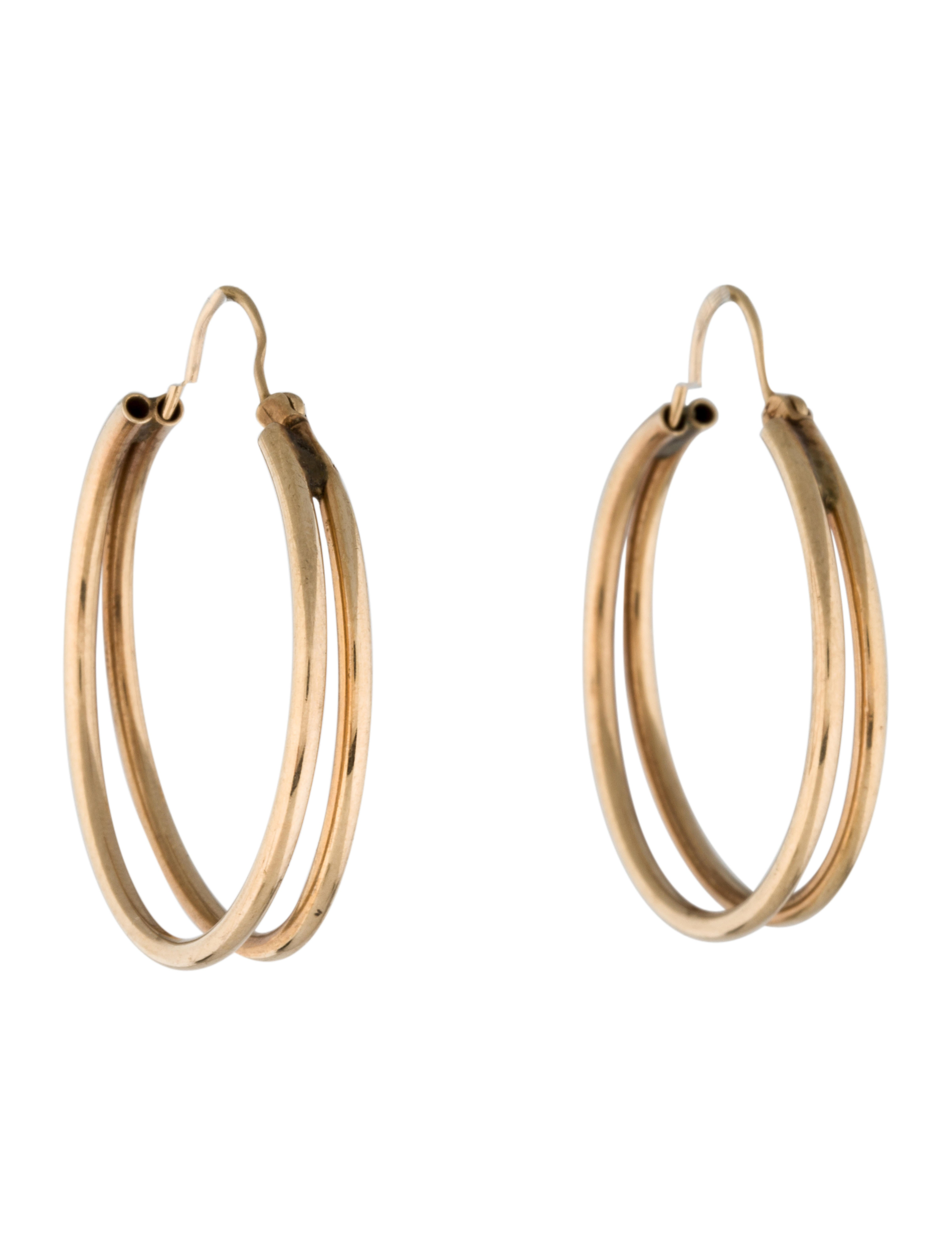 14k double hoop earrings earrings earri20001 the. Black Bedroom Furniture Sets. Home Design Ideas