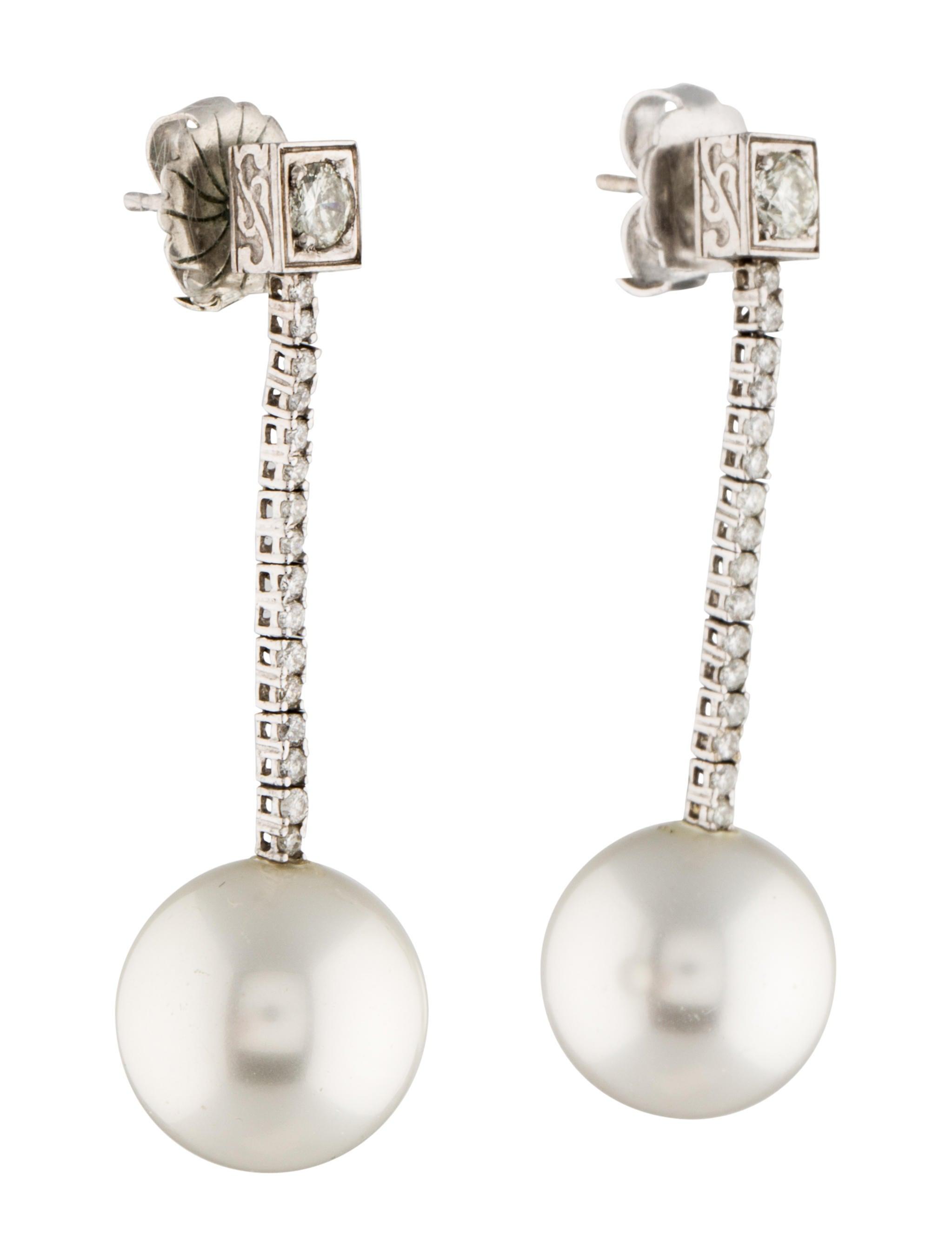 diamond faux pearl drop earrings earrings earri21179. Black Bedroom Furniture Sets. Home Design Ideas