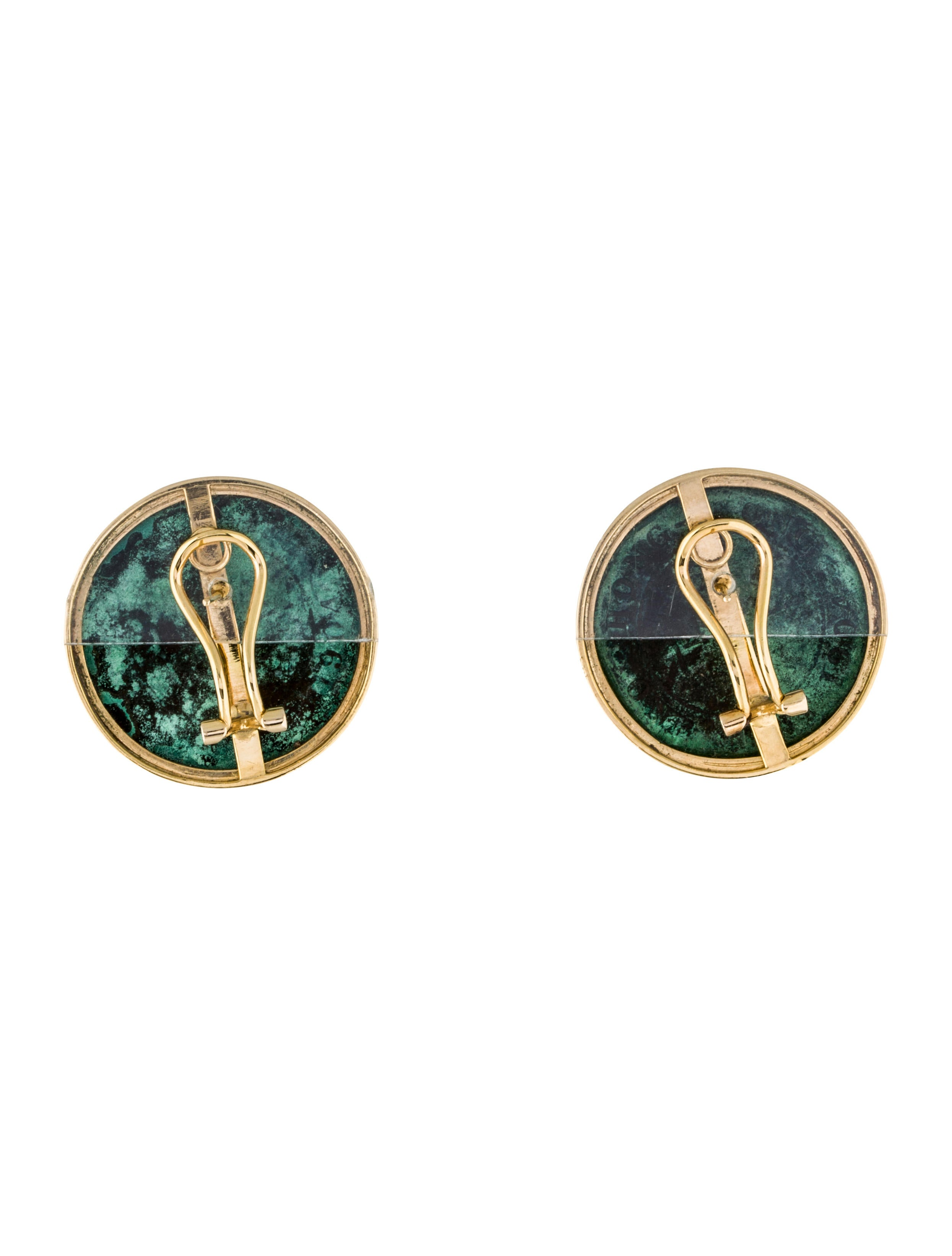 earrings hong kong edward vii coin earrclips earrings