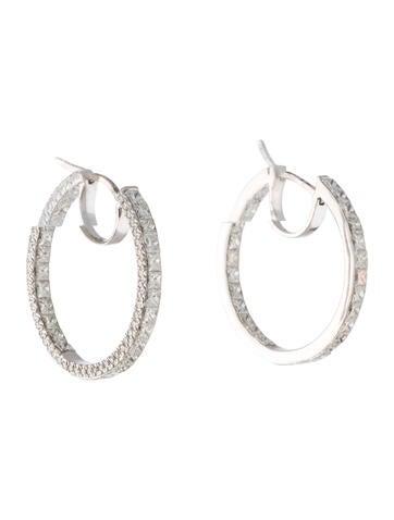 Inside-Out Diamond Hoop Earrings