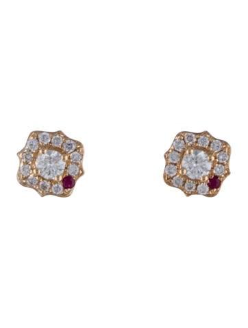 Diamond & Ruby Studs