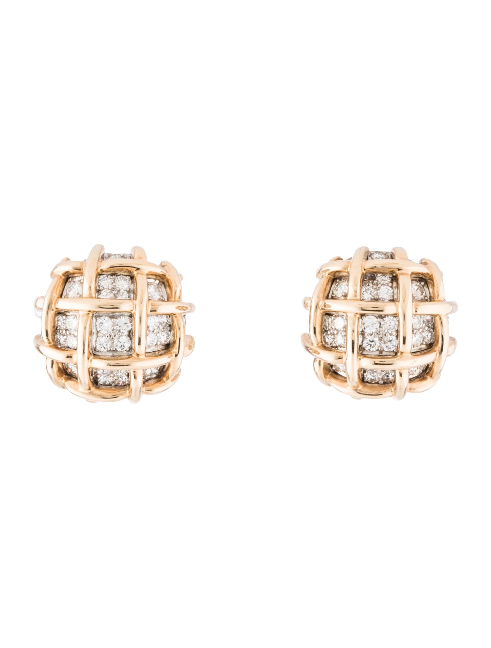 Basket Weaving Jewelry : Diamond basket weave earclips earrings earri