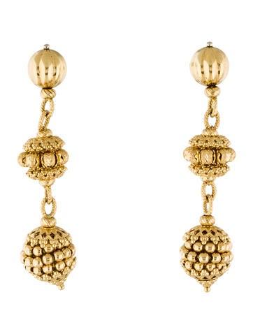 18K Ornate Drop Earrings