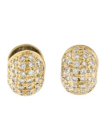 18K Diamond Huggie Earrings
