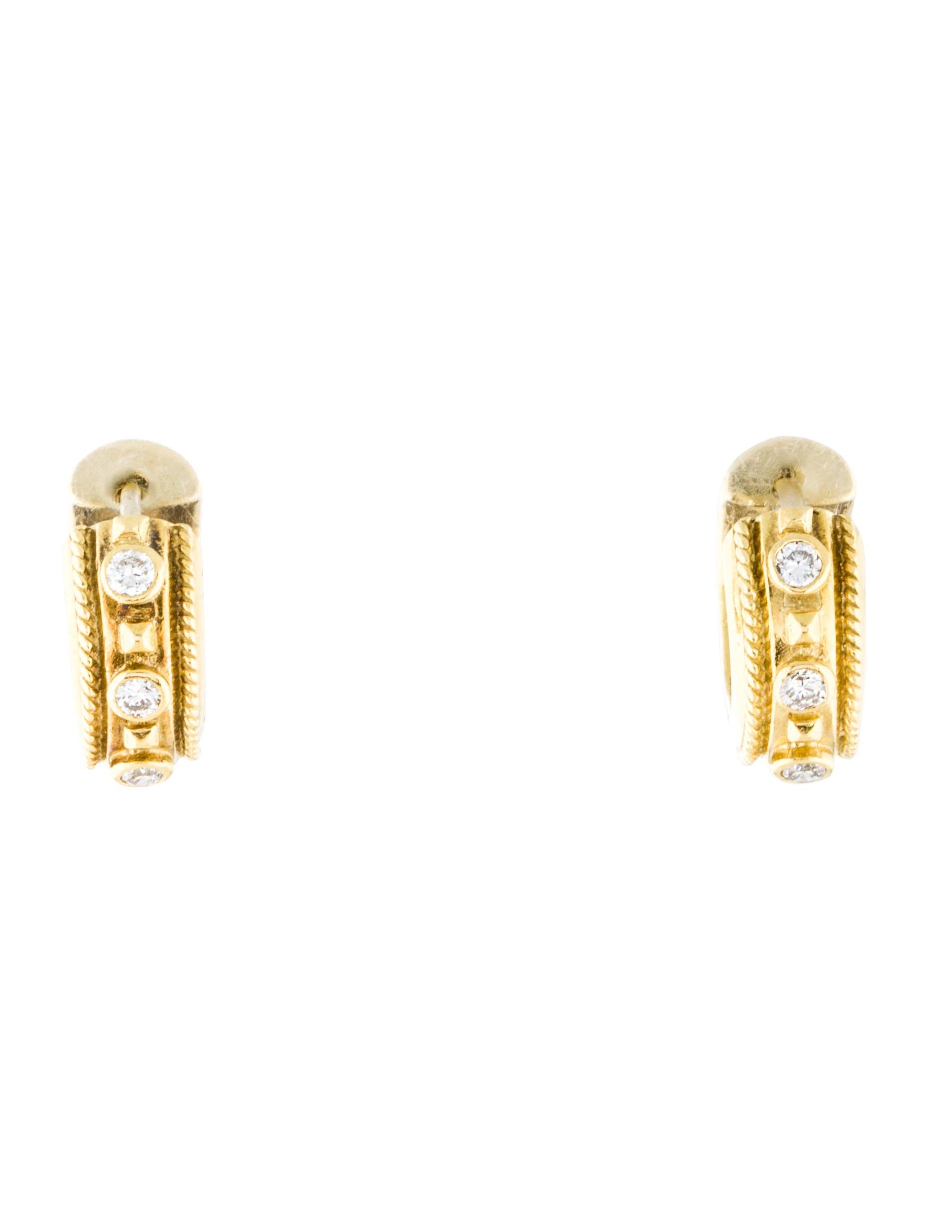 18k huggie earrings earrings earri31119 the