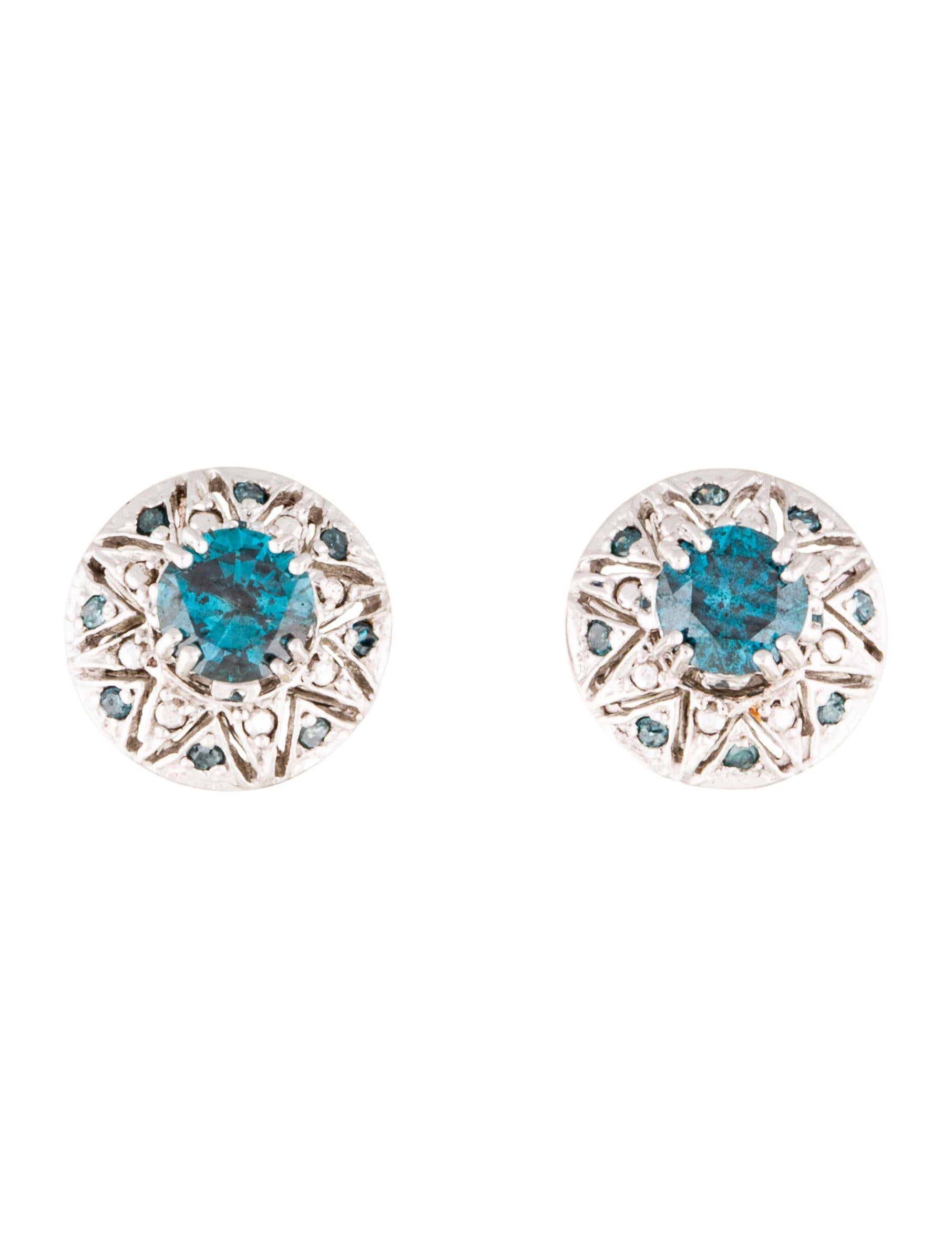 multi of blue collections pair graff classic a shape diamond earrings stud