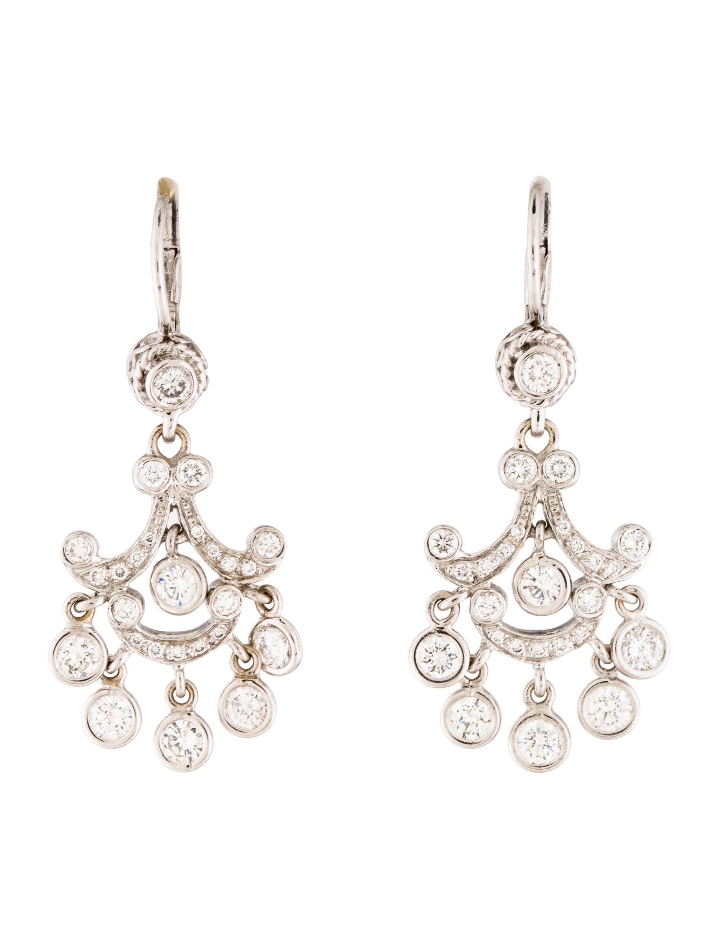 14k diamond chandelier earrings earrings earri35262. Black Bedroom Furniture Sets. Home Design Ideas