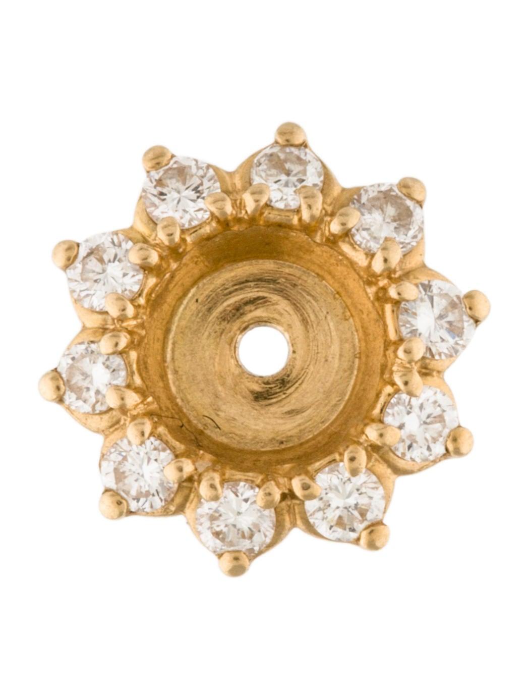 18k Diamond Earring Jackets Earrings Earri35364 The