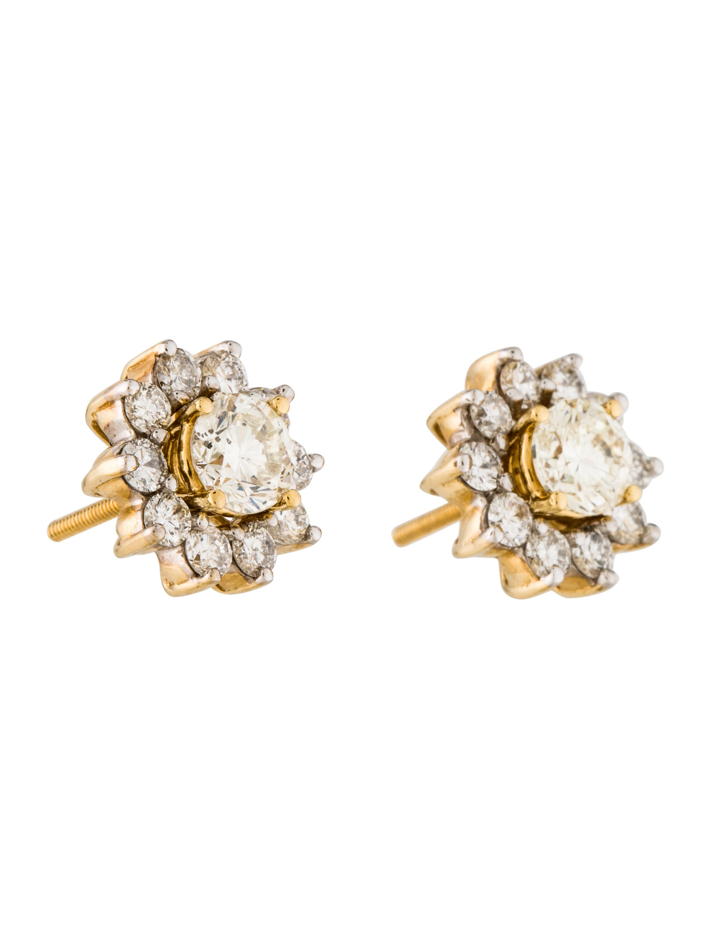 14k diamond stud earring enhancers earrings. Black Bedroom Furniture Sets. Home Design Ideas